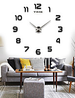 12S002 TIANPU TIME Round Modern/Contemporary Wall Clock,Family Acrylic / Stainless Steel / Styrofoam Can DIY 70-130cm