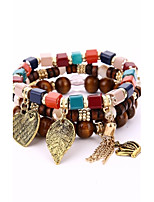 Men's Women's Strand Bracelet Wrap Bracelet Vintage Bohemian Wood Alloy Geometric Jewelry For Casual Going out