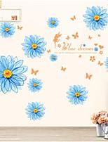 Floral/Botânico Adesivos de Parede Autocolantes de Aviões para Parede Autocolantes de Parede Decorativos Material Decoração para casa