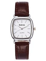 Men's Women's Wrist watch Quartz Leather Band Minimalist Casual Black White Brown