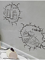 Food Wall Stickers Plane Wall Stickers Fridge Stickers,Plastic Material Home Decoration Wall Decal