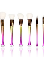 YZIMENG® 6pcs Mermaid Tail Rainbow Makeup Brush Set Blush/Concealer/Powder/Eyeshadow Portable Synthetic Hair Travel Beauty Care Make Up for Face