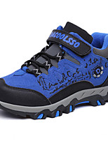 Boys' Shoes Customized Materials Fall Winter Comfort Athletic Shoes Hiking Shoes With Lace-up For Athletic Outdoor Khaki Blue