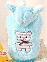 Dog Hoodie Dog Clothes Casual/Daily Bear Blue Blushing Pink