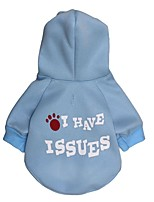 Dog Hoodie Dog Clothes Casual/Daily Letter & Number Blue