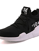 Men's Shoes Tulle Summer Fall Comfort Athletic Shoes Running Shoes Lace-up For Casual Outdoor Black White