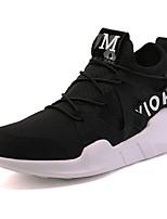 Da uomo Scarpe Tulle Estate Autunno Comoda scarpe da ginnastica Corsa Lacci Per Casual Bianco Nero