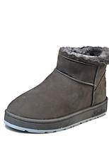 Для женщин Обувь Ткань Зима Осень Удобная обувь Ботинки На плоской подошве Ботинки Назначение Повседневные Черный Серый Лиловый Хаки