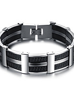 Men's Boys' Cuff Bracelet Bracelet Jewelry Fashion Simple Style Titanium Steel Geometric Jewelry For Daily Office & Career