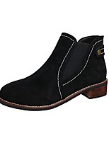 Women's Shoes Suede Fall Winter Fashion Boots Bootie Boots Booties/Ankle Boots With For Casual Outdoor Khaki Black