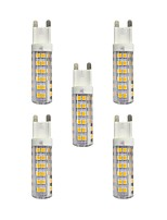5 pcs 4.5W G9 LED Bi-pin Lights T 76 leds SMD 2835 Warm White White 360lm 3000-3500/6000-6500K AC 220-240V