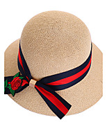 Women's Straw Sun Hat,Casual Patchwork Summer