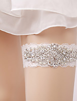 Lace Wedding Garter with Rhinestone Imitation Pearl Wedding AccessoriesClassic Elegant Style