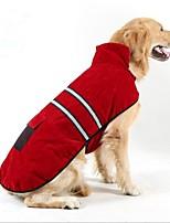 Cachorro Casacos Roupas para Cães Casual Mantenha Quente Dia Das Bruxas Natal Sólido Cor Aleatória