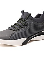 Men's Shoes PU Fall Winter Comfort Sneakers Lace-up For Outdoor Gray Black