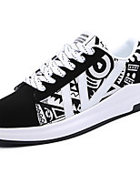 Men's Shoes PU Spring Fall Comfort Light Soles Sneakers Lace-up For Casual Orange/Black Black/White Purple White