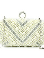 Women Bags All Seasons PU Shoulder Bag Beading for Wedding Event/Party Beige Khaki