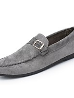 Men's Shoes PU Spring Fall Moccasin Loafers & Slip-Ons For Casual Khaki Gray Black