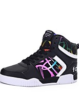 Men's Shoes PU Spring Fall Comfort Sneakers Lace-up For Casual Outdoor Red Black White
