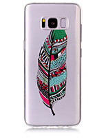 Case For Samsung Galaxy S8 Plus S8 Phone Case TPU Material Feathers Pattern HD Phone Case S7 edge S7 S6 Edge S6 S5