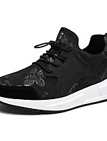 Men's Shoes Fleece Spring Fall Comfort Athletic Shoes Lace-up For Outdoor Red Black Gold