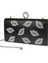 Women Bags All Seasons Polyester Evening Bag Crystal Detailing for Wedding Event/Party Gold Black Silver