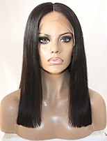 Women Human Hair Lace Wig Brazilian Remy Lace Front 150% 130% Density Bob Haircut Straight Wig Black Short Medium For Black Women