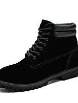 Men's Shoes PU Spring Winter Comfort Riding Boots Fashion Boots Motorcycle Boots Bootie Combat Boots Boots Booties/Ankle Boots Mid-Calf