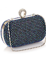 Women Bags All Seasons Polyester Evening Bag Crystal Detailing for Wedding Event/Party Blue Gold Silver