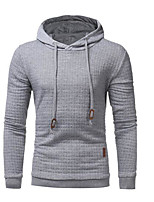 Men's Casual/Daily Hoodie Print Hooded Micro-elastic Cotton Long Sleeve Fall