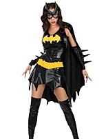 Outfits Bat Movie Cosplay Dress Sleeve Belt Eye Mask Halloween Christmas Female leather