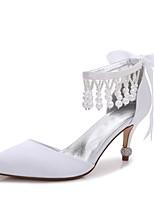 Da donna Scarpe Raso Primavera Estate Comoda D'Orsay Decolleté Cinturino alla caviglia scarpe da sposa Basso Kitten A stiletto A cono
