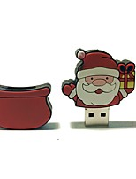 2gb natal usb flash drive cartoon criativo santa claus presente de natal usb 2.0