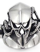 Men's Band Rings Gothic Punk Stainless Steel Skull / Skeleton Jewelry For Halloween Gift