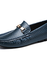Men's Shoes Nappa Leather Fall Winter Moccasin Loafers & Slip-Ons For Casual Party & Evening Blue Brown Black White