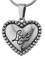 Ciondoli Gioielli A forma di cuore Amore Acciaio inossidabile Di tendenza Adorabile Gioielli Per Matrimonio Feste Halloween Quotidiano