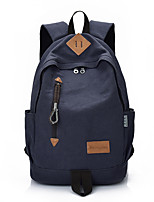 Men Bags All Seasons Canvas Backpack Zipper for Casual Outdoor Black Gray