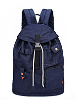 Unisex Bags All Seasons Canvas Backpack Buttons for Casual Outdoor Blue