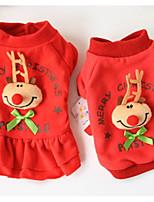 Cane Felpa Abbigliamento per cani Natale Renna Rosso Verde