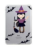 cheap -For iPad (2017) Case Cover Transparent Pattern Back Cover Case Transparent Halloween Soft TPU for Apple iPad (2017) iPad Pro 12.9'' iPad