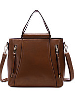 Women Bags All Seasons PU Shoulder Bag for Casual Office & Career Black Camel Gray