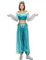 Cosplay Costumes Super Heroes Ninja Prince Animal Fairytale Police Festival/Holiday Halloween Costumes Green Blue Fashion Solid Color