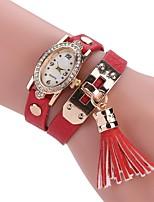 Per donna Orologio alla moda Orologio braccialetto Creativo unico orologio Cinese Quarzo imitazione diamante PU Banda Stile Boho Ciondolo