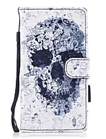 para capa de caso cartão carteira carteira com suporte flip padrão magnético corpo inteiro crânio duro couro duro para huawei huawei p10