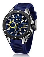 Herrn Sportuhr Modeuhr Armbanduhren für den Alltag Chinesisch Quartz Kalender Chronograph Wasserdicht Silikon Band Bequem Luxuriös