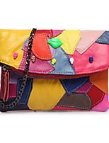 Women Bags All Seasons Cowhide Shoulder Bag Rivet for Formal Office & Career Black Red