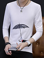 Men's Going out Casual/Daily Sweatshirt Print Round Neck Micro-elastic Others Long Sleeve Fall
