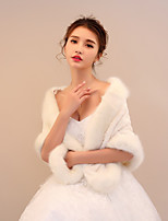 Women's Wrap Shawls Faux Fur Wedding Party/ Evening Pattern / Print Stripe