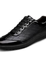Da uomo Scarpe Pelle Nappa Vernice Primavera Autunno Comoda Scarpe da immersione Sneakers Lacci Per Casual Nero