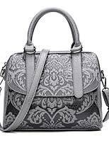 Women Bags All Seasons PU Tote Zipper for Shopping Casual Red Dark Gray Military Green Light Gray